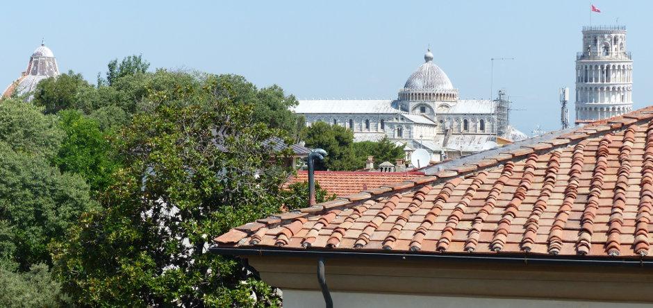 Terrazza panoramica con spettacolare vista di Torre, Duomo e Battistero